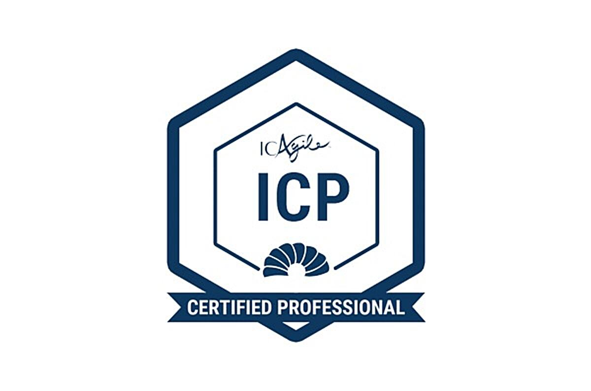 Click the ICAgile Certified Professional badge to book your course.