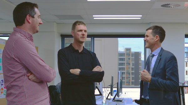 The Mayor of Wellington Justin Lester talks to Nathan and James at Boost HQ.