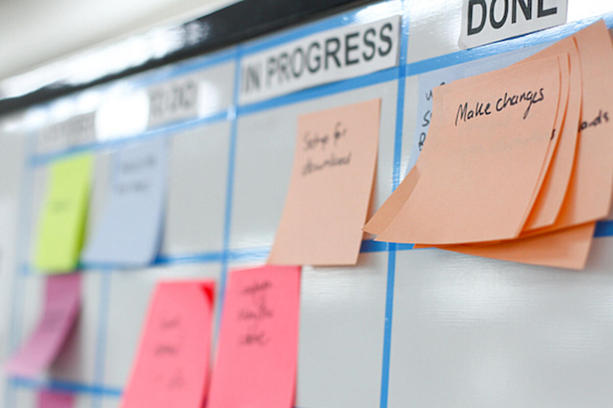 Agile project risk management board