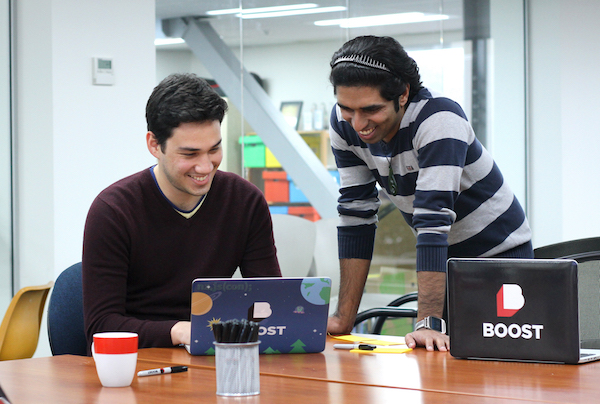 Click the photo of Boost developers Gus and Eddy to contact Boost and secure development resource for your project.