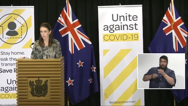Screenshot from Ministers' media conference on COVID-19. Image from https://covid19.govt.nz/  CC-by-4.0 https://creativecommons.org/licenses/by/4.0/