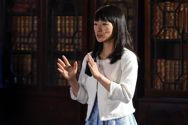 Alt text: Marie Kondo at Web Summit 2015. Photo by https://www.flickr.com/photos/websummit/ — CC by 2.0 licence