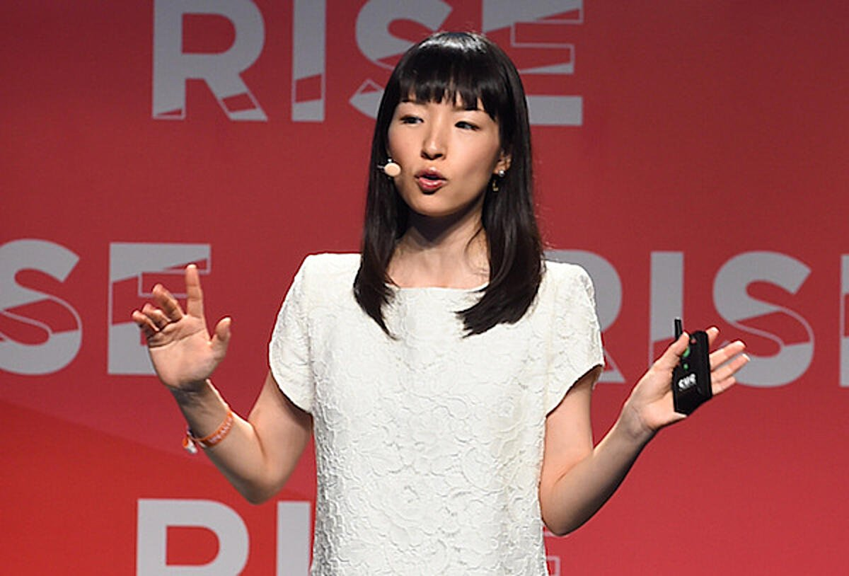Marie Kondo at Rise 2016. Photo https://www.flickr.com/photos/riseconf/ — CC by 2.0 licence