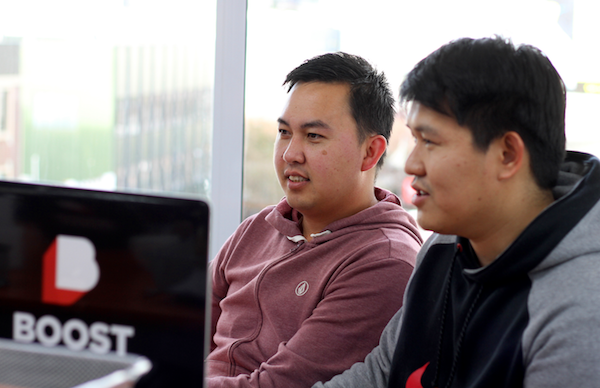 Click the photo of Boost developers Yar and Ben to ready the Story splitting case study.