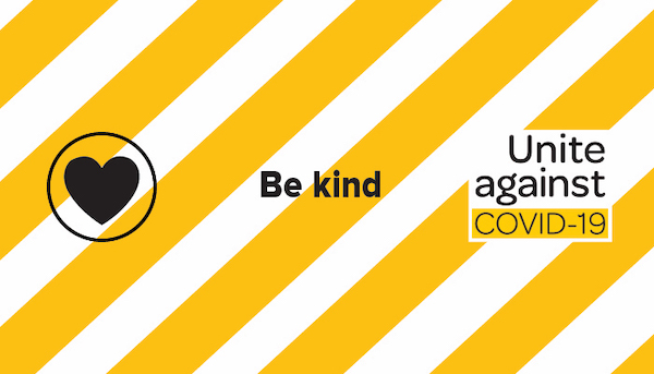 Combination of the Unite against COVID-19 logo and the Be kind banner from https://covid19.govt.nz/. CC-by-4 https://creativecommons.org/licenses/by/4.0/